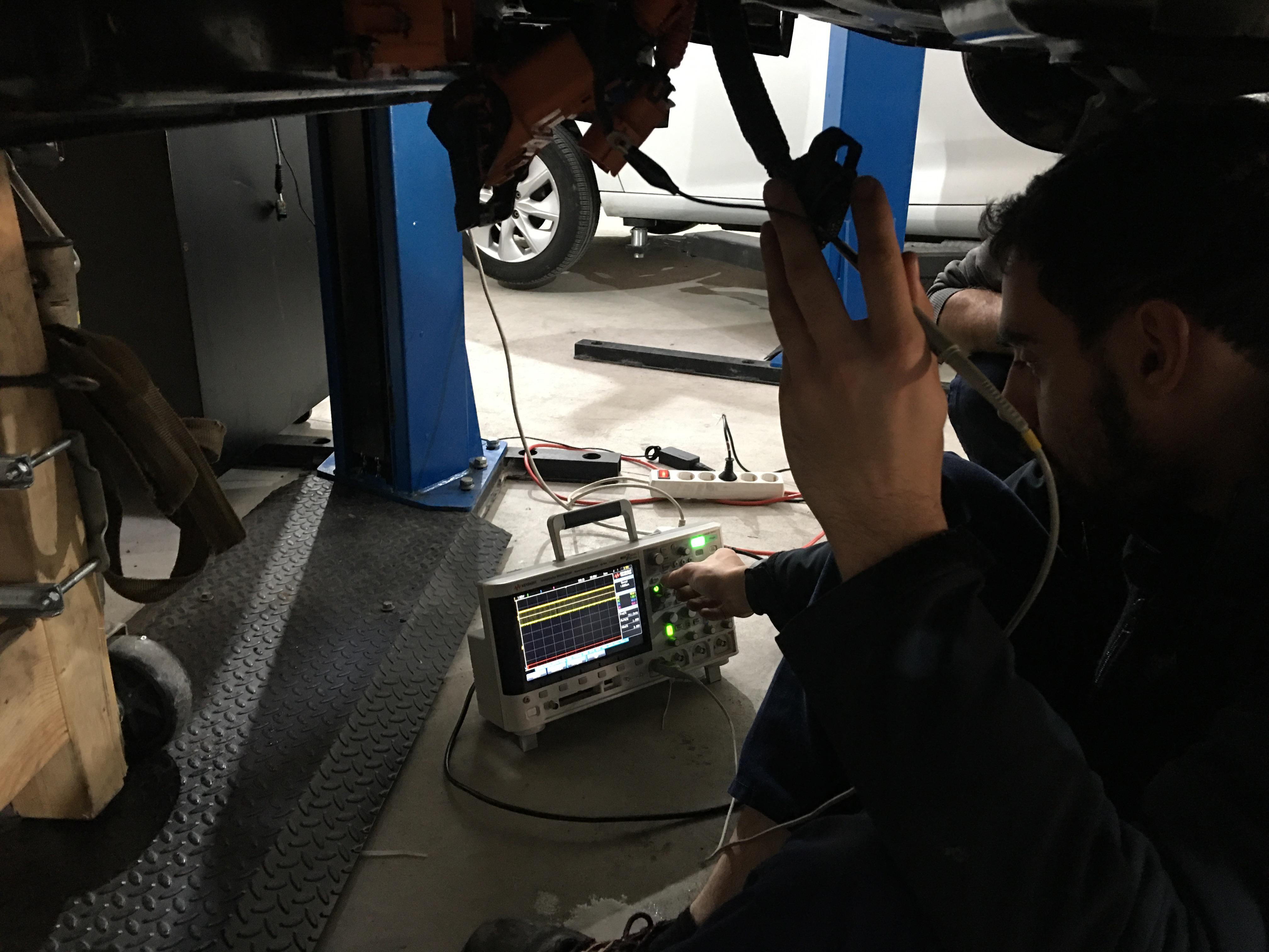 Working on Fiat 500e BPCM