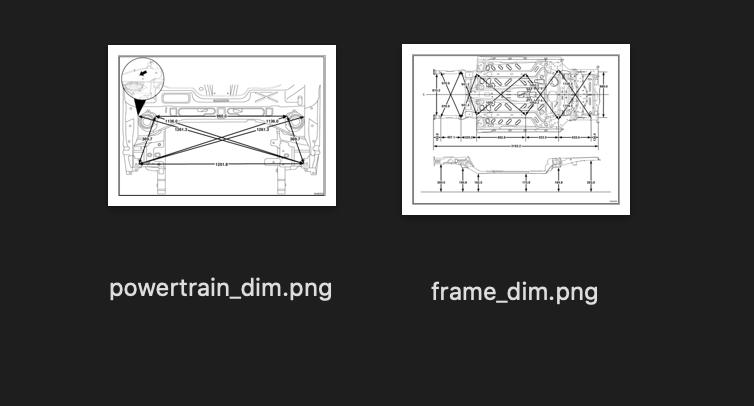 Fiat 500e frame dimensions