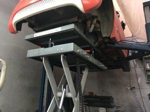 Removing Fiat 500e HV Battery Pack