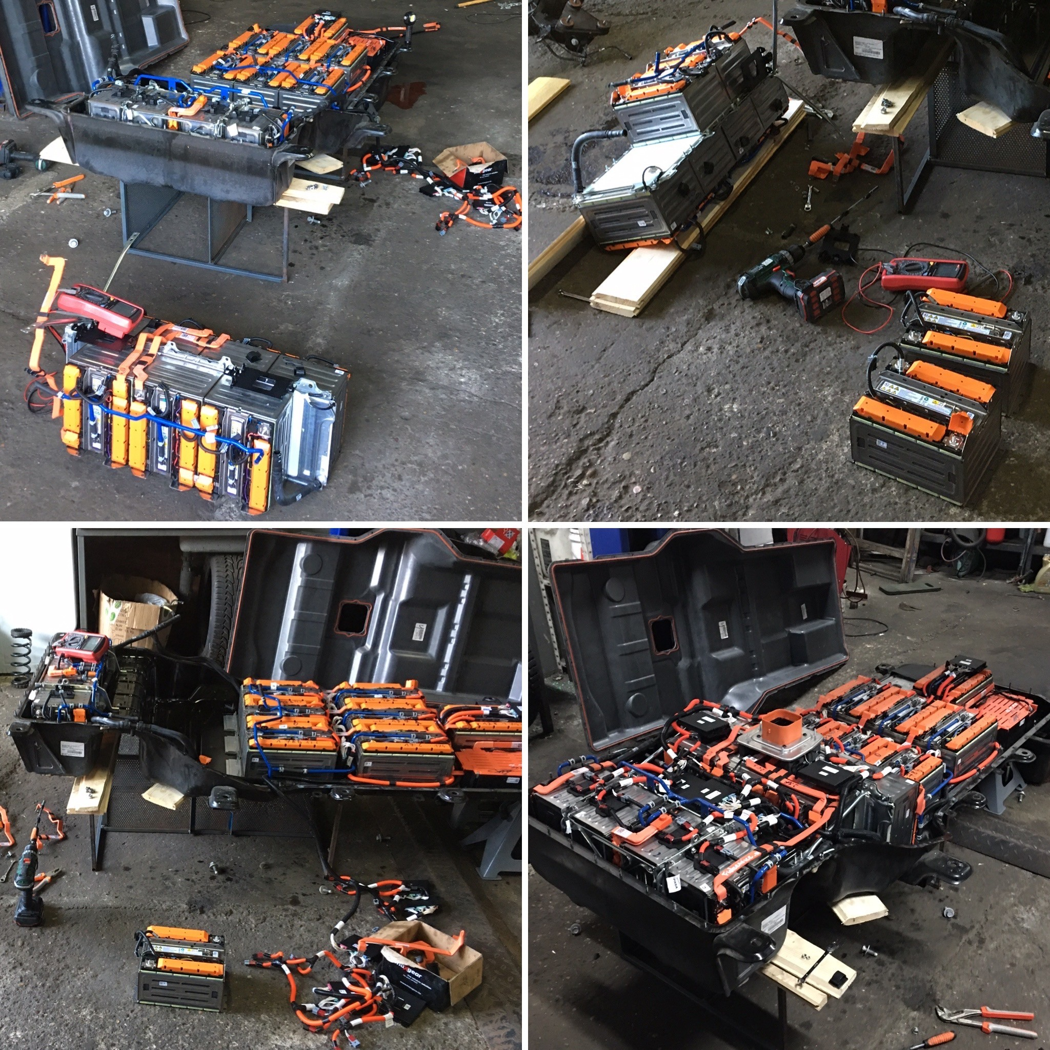 500e HV battery repair