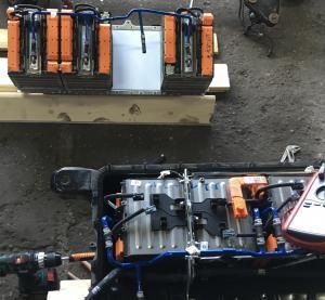 Fiat 500e riparazione della batteria