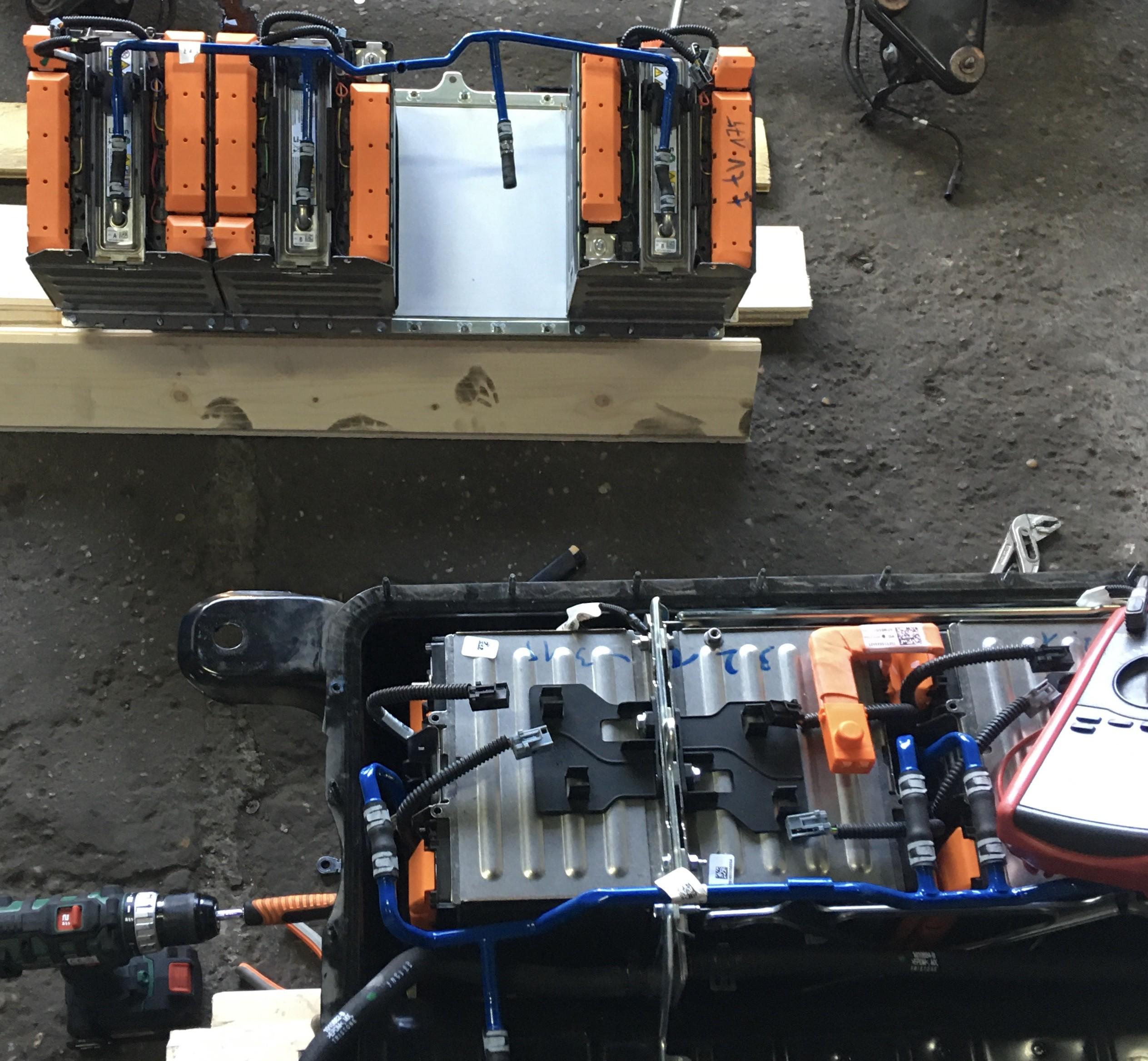 Fiat 500e Batteriereparatur