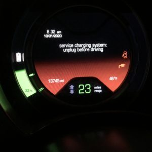Sistema di ricarica del servizio in Fiat 500e