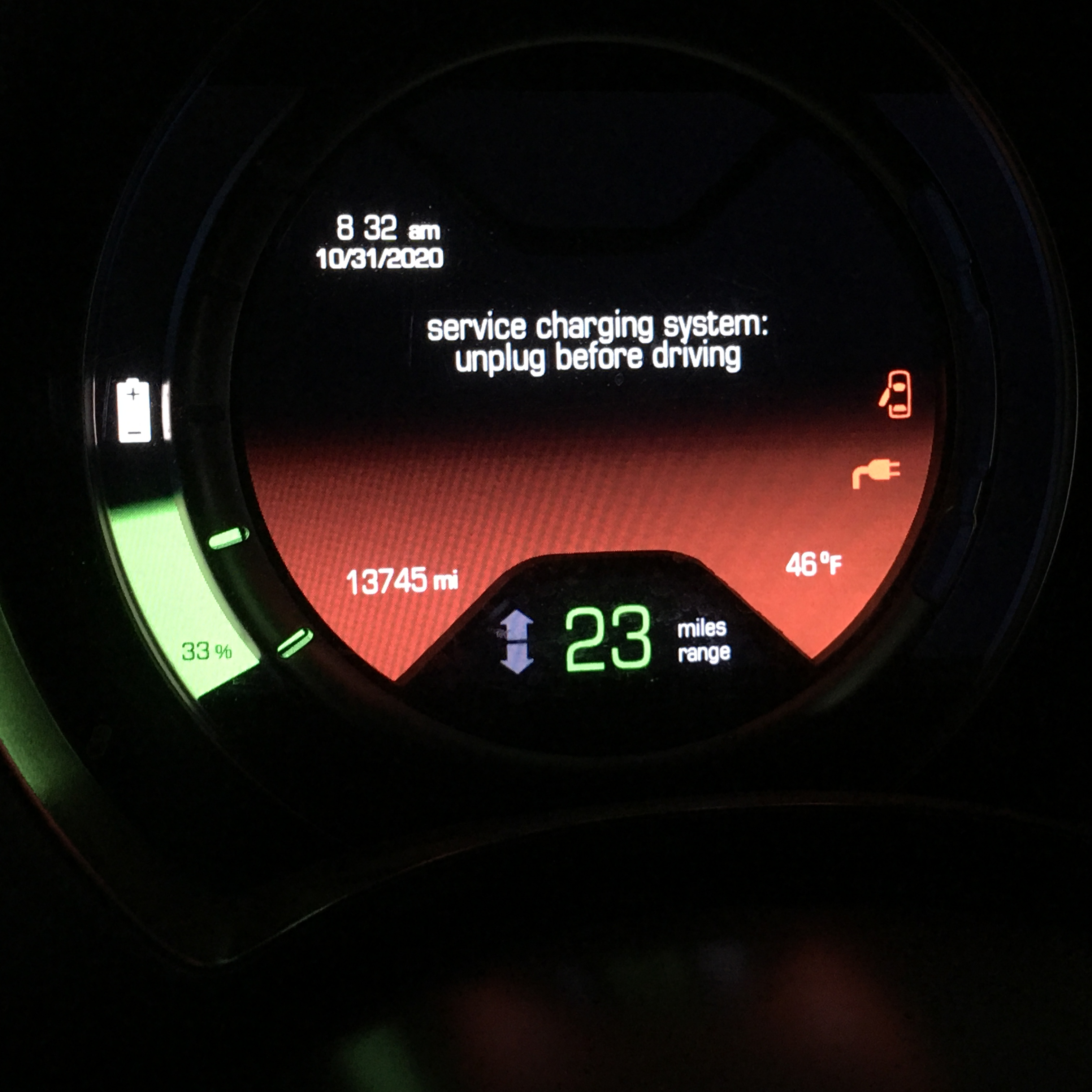 Service Charging System in Fiat 500e