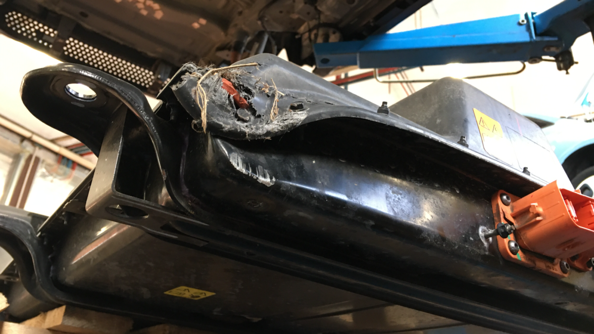 Fiat 500e suspension modifications